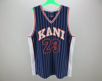 Karl Kani Jersey Männer Größe XXL Karl Kani Tank Karl Kani übergroße Jersey  Kani Ausdauer Activewear