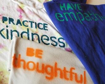 Empathie | Freundlichkeit der Praxis | Sein durchdachtes Schablonen