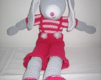 Amirugumi toy rabbit ears kids room decoration