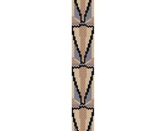 Art Deco 9 Peyote Bead Pattern, Bracelet Pattern, Bookmark Pattern, Seed Beading Pattern Miyuki Delica Size 11 Beads - PDF Instant Downl