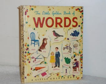 "The Little Golden Book of Words 25c #45 1948 ""C"" Ed by Simon & Schuster"