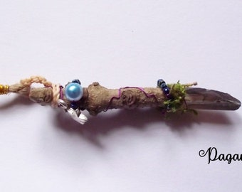 Tiny Fairy wand necklace - pagan- faerie-dryad-woodland-witch-druid-wicca-nature-nature spirit-Goddess