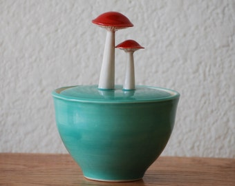 Seconds Sale: Jade Mushroom Jar