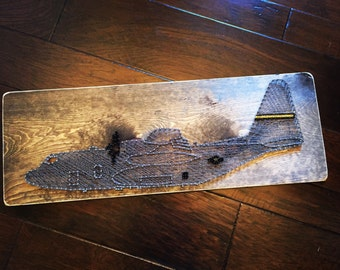 US Air Force Airplane String Art Aviation Military