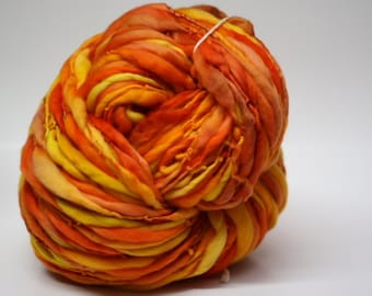 Handspun Yarn Thick Thin Organic Merino Wool Slub tts(tm) Bulky One-Pounder xLR 24