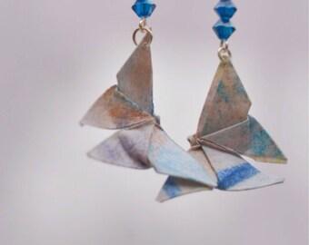 Origami Butterfly shape earrings