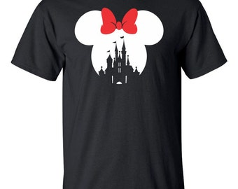 On Sale - Mickey Mouse or Minnie Mouse Disney Castle T Shirt