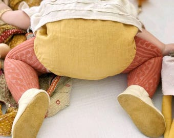 Baby bloomers, diaper cover, mustard linen bloomers, ready to ship