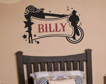 Country Music Name Frame - Vinyl Wall Decal
