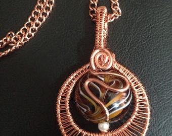 Copper Wire Wrapped Glass