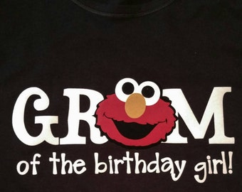 Sesame Street Elmo Gram, Grandama, Nana, Abuela of the birthday girl or boy Shirt, family shirts, any character