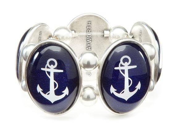 Anchor Cameo Stretch Bracelet