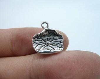 30pcs 13x15mm Antique Silver 3d Lotus Leaf Charms , Lotus Leaf Charms Lotus Leaf Pendants ,Lotus Leaf ,Yoga Charm C8100