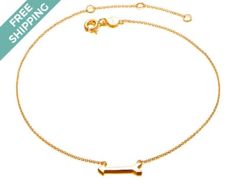 Gold Plated Sterling Silver Arrow Bracelet