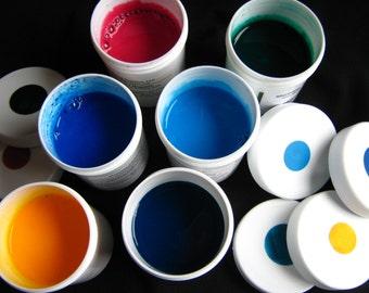 Marbling Paint - Hand-mixed Acrylic Paint Set of 6 Colors - Basic Set II Marbleizing Floating Paint