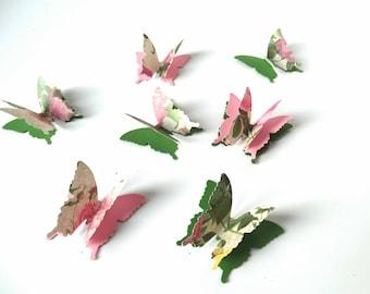 3D paper butterflies, garden party decor, vintage design butterflies, birthday party accent, secret garden party, fairy party