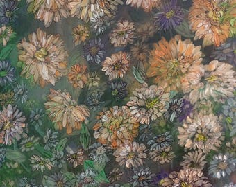 Early Morning Flowers - Original Acrylic Painting by J.M. Roth