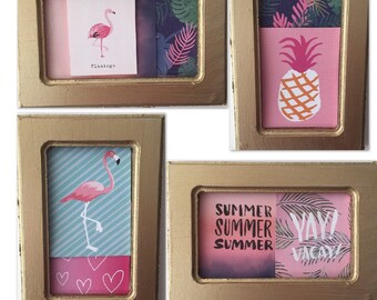 Pink flamingo stationary set
