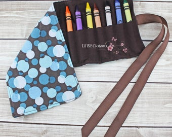 Crayon Roll * Ready to ship!