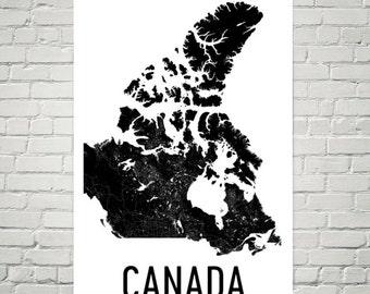 Canada Map, Map of Canada, Canada Print, Canada Wall Art, Canada Poster, Canada Decor, Canada Art, Canadian Gifts, Canada Map Art Print
