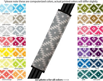 Seat Belt Cover // AUTO PAD // Car Accessories // seat belt pad - Aztec - Pick Your Own Color - Custom Customized seatbelt tribal navajo