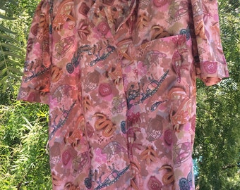 80s indigenous pattern shirt