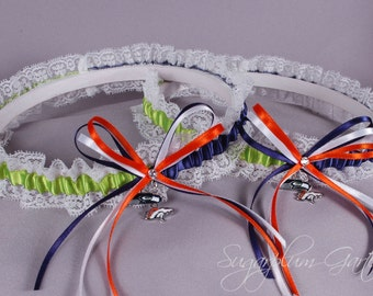 House Divided Lace Wedding Garter Set