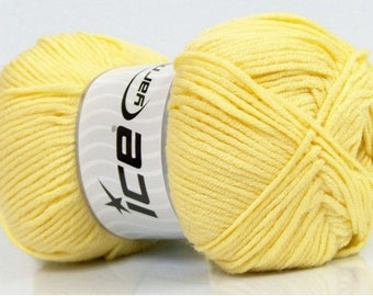 ICE CLEAR YELLOW AKSOFT WOOL 100 G FINGERING 4/5 //50 PINCUSHION