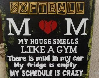 Softball Mom sign
