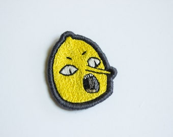 Lemongrab Embroidered Patch - Adventure Time Gift Brooch Applique
