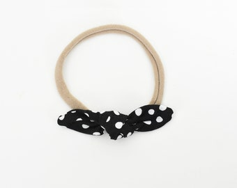Black Bow, Bow Headband, Bow Clip, Baby Girl Hair Accessories, Toddler Headband, Baby Bow