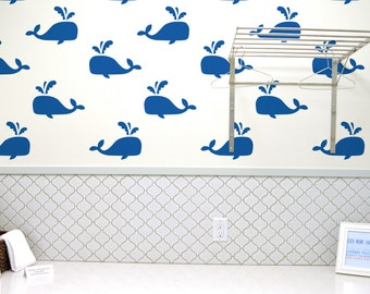 Whale Wall Stencil Reusable