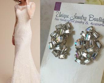 Wedding Earrings, Art Deco Bridal Earrings, Statement Earrings, Crystal Bridal Earrings, Wedding Jewelry, Bridal Earrings, Vintage Style