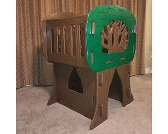 Cubby House - Indoor Playhouse - Indoor Treehouse - FREE SHIPPING - Kids Bedroom - Children's Playhouse