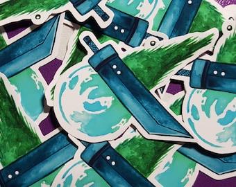 Final Fantasy VII inspired sticker