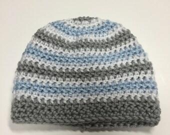 Crochet Baby Hat, Beanie 0-3 Months