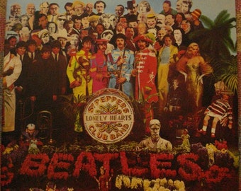 Rare Vintage BEATLES 1967 LP Sargeant Peppers Lonely Hearts Club Band Gatefold Cover Capitol Records