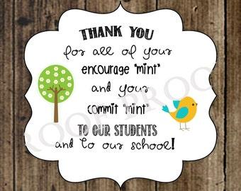 Thank you teachers for commitment encouragement mint gift educators teacher office present