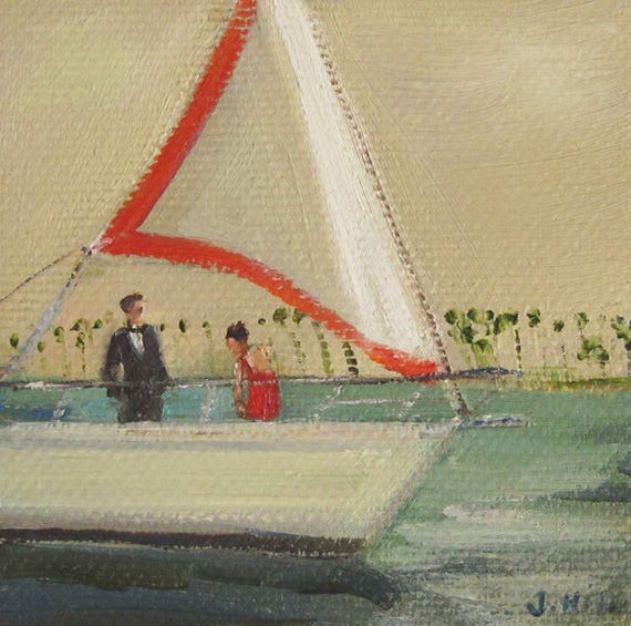 The Kidnapping Of Edward Pink.  Art Print From Miniature Oil Painting