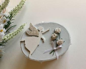 Girls birthday fairy trinket handmade shabby chic birthday Keepsake jewellery box