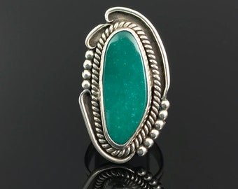 Teal Turquoise Native American Navajo Sterling Silver Ring