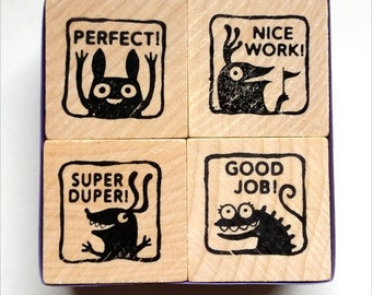 Monster rubber stamps for teachers -- set #2