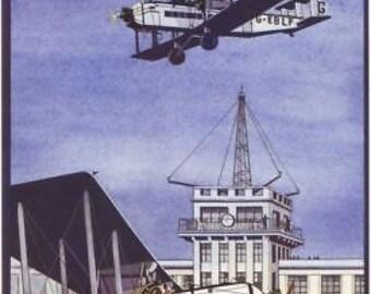 Vintage Croydon Airport Advertising A3 Poster Reprint