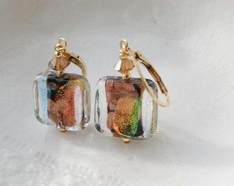 Murano Glass Dichroic Earrings