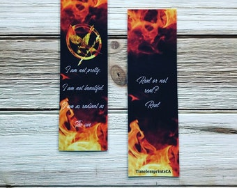 Hunger Games- double-sided Bookmark