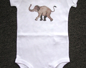 Cute baby bodysuit, Unique baby clothes, Elephant baby shower, Elephant baby, Elephant baby clothes, Safari, Jungle, Animal, Shower Gift