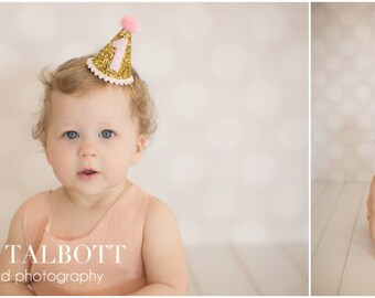 First Birthday Party Hat,  First Birthday, 1st Birthday, 1st Birthday Party Hat, cake smash, baby girl birthday, birthday