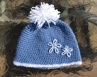 Classic Style Ski/Toboggan Hat, Crochet pdf pattern 5 Sizes newborn to adult, Instant Download Available