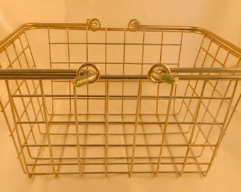 Silver Colored Metal Basket With Handles Decor Storage
