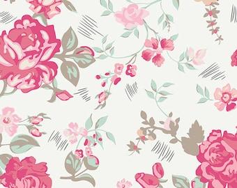 By the YARD FABRIC//Nostaligic Romance, Art Gallery Fabric, Cotton Fabric